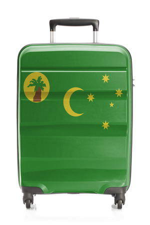 cocos: Suitcase painted into national flag series - Cocos (Keeling) Islands Stock Photo