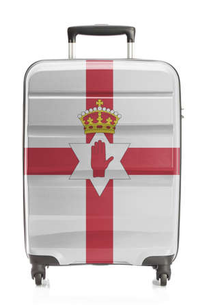 northern ireland: Suitcase painted into national flag series - Northern Ireland
