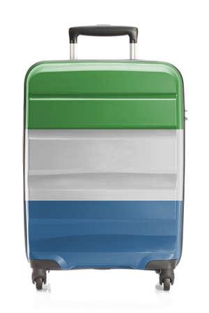 sierra leone: Suitcase painted into national flag series - Sierra Leone
