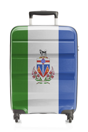 yukon: Suitcase painted into Canadian territory or province flag series - Yukon