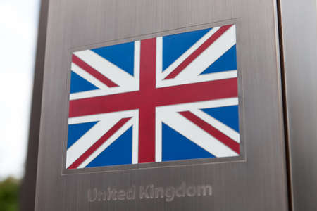 unitary: British flag on pole - part of a series
