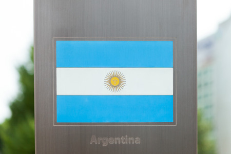 National flags on pole series - Argentina