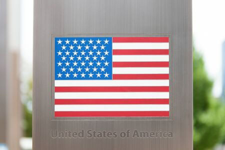 domestic policy: National flags on pole series -  United States of America