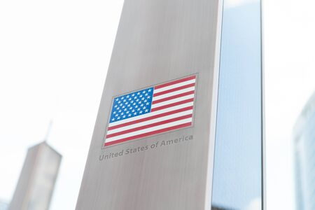 domestic policy: Flags on pole series - USA