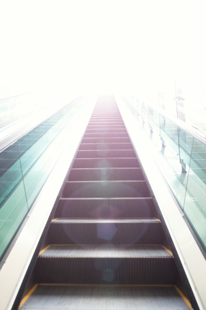 elevation: Escalators stairway as a concept of successful elevation