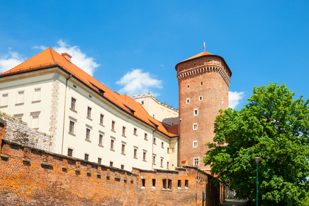senators: Senators tower of Royal Wawel Castle as a part of famous historical complex in Krakow, Poland Stock Photo