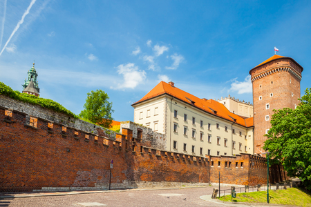 senators: Senators tower at Royal Wawel Castle as a part of well-known historical complex of Krakow, Poland