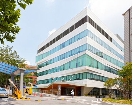 SEOUL, KOREA - AUGUST 12, 2015: New campus of Severance hospital of Yonsei University - very prestigious high end hospital in Seoul, South Korea