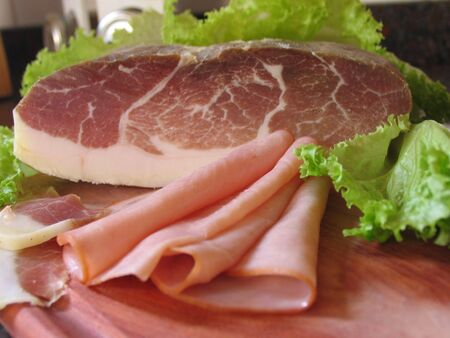 tomatto: ham with vegetables