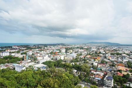 sky view of hatyai in Thailand