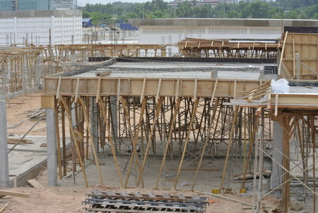 roof beam: Roof beam and slab formwork