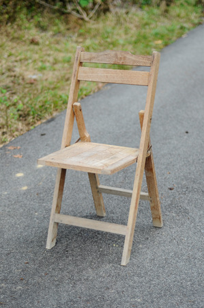Old vintage wooden chair photo