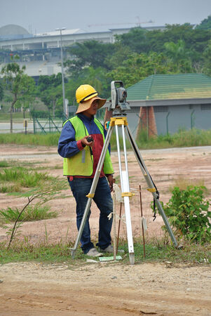 Surveyor with survey equipment