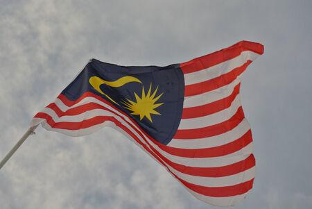 1malaysia: Malaysian flag in windy air