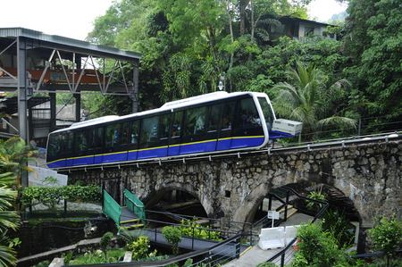 The Penang Hill Railway is a one section funicular railway which climbs Penang Hill from Air Itam, near George Town on the island of Penang in Malaysia.