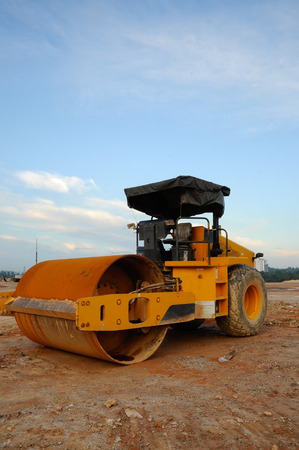 roller compactor: Roller Compactor  Road Roller at Construction Site