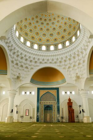 malai: Interior of Al Bukhari Mosque located at Mukim Alor Malai, Alor Setar, Kedah, Malaysia. This Mosque complex completed with others facilities such as hospital, hotels, commercial area and others.  Mosque design based on the design of mosques in Iran.