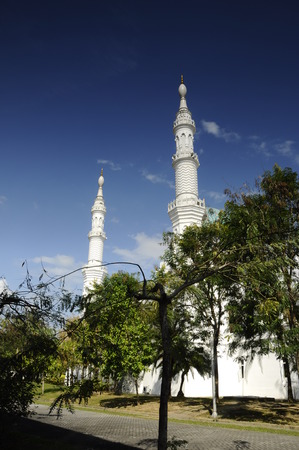 malai: Minaret of Al Bukhari Mosque located at Mukim Alor Malai, Alor Setar, Kedah, Malaysia. This Mosque complex completed with others facilities such as hospital, hotels, commercial area and others.  Mosque design based on the design of mosques in Iran.