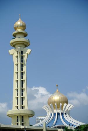 penang: Penang State Mosque in Penang, Malaysia Stock Photo