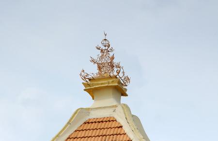 pinnacle: Pinnacle of Duyong Mosque a.k.a Masjid Laksamana Melaka located at Kampung Duyong, Malacca. It was built trough voluntarily by the people in 1850. The minaret built by the side of mosque in 1908 was used for azan.