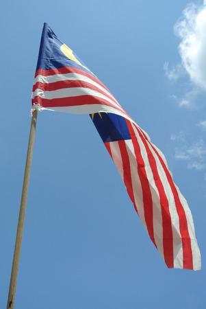 1malaysia: Malaysian Flag in windy air on August 17, 2014 at Seremban, Negeri Sembilan, Malaysia.
