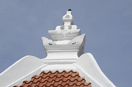 pinnacle: Pinnacle of Masjid Kampung Hulu in Malacca, Malaysia Stock Photo
