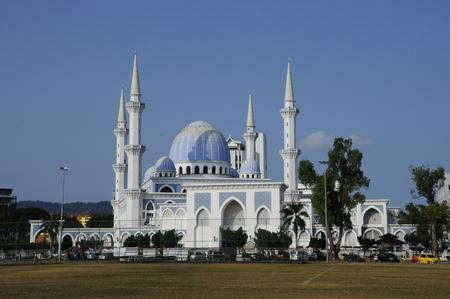 Sultan Ahmad 1 moskee gevestigd in Kuantan, Pahang. Het was de moskee staat van Pahang, Maleisië. Stockfoto