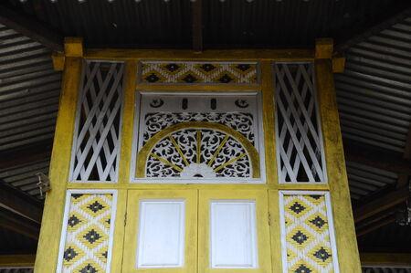 malay village: Ventana de detalle en Masjid Ihsaniah Iskandariah en Kuala Kangsar