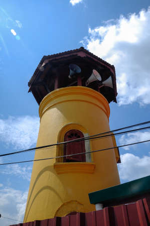 rabit: Minaret of Batak Rabit Old Mosque in Teluk Intan Perak on December 11, 2014. Stock Photo