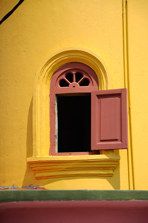 rabit: Minaret window of : Batak Rabit Old Mosque in Teluk Intan Perak on December 11, 2014. Stock Photo