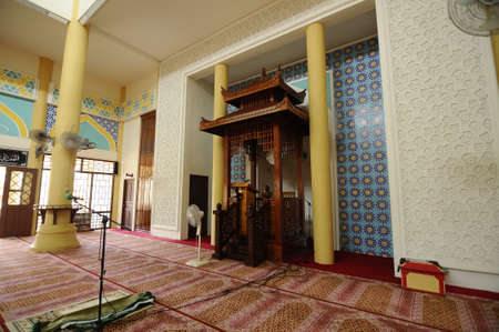 doa: Mihrab of The Masjid Jubli Perak Sultan Ismail Petra in Rantau Panjang, Kelantan, Malaysia. The mosque is also known as Masjid Beijing or Beijing Mosque due to its Chinese temple-like structure. Built between 2005 and 2009.
