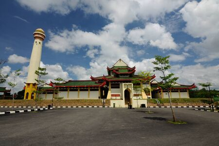 recite: The Masjid Jubli Perak Sultan Ismail Petra in Rantau Panjang, Kelantan, Malaysia. The mosque is also known as Masjid Beijing or Beijing Mosque due to its Chinese temple-like structure. Built between 2005 and 2009.