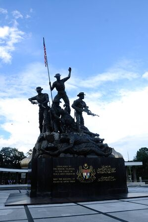 negara: Tugu Negara a.k.a National Monument is a monument to commemorate for those who died during World War II and the Malayan Emergency. The monument complex was constructed in 1966 and complete on 1966 in an area 48,562 square metre.