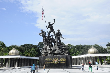 malaya: Tugu Negara a.k.a National Monument is a monument to commemorate for those who died during World War II and the Malayan Emergency. The monument complex was constructed in 1966 and complete on 1966 in an area 48,562 square metre.