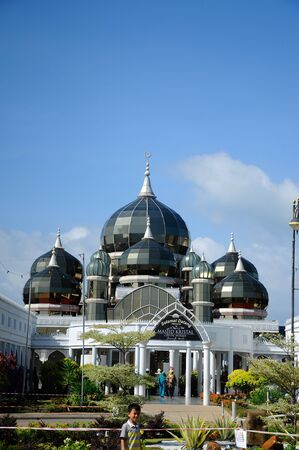 The Crystal Mosque or Masjid Kristal is a mosque in Kuala Terengganu, Terengganu, Malaysia. A grand structure made of steel and the finishes from glass and crystal. Stok Fotoğraf