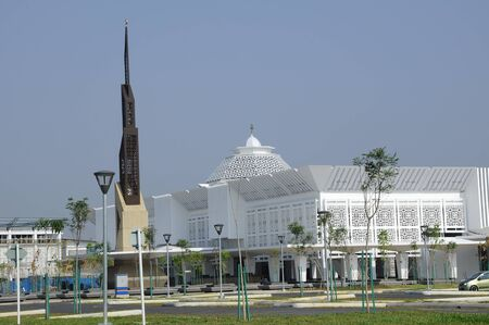 doa: Cyberjaya Mosque is the first Green Platinum Certificate Mosque built in Malaysia. It is in Cyberjaya, Sepang, Malaysia with capacity 8500 people in one time. Stock Photo