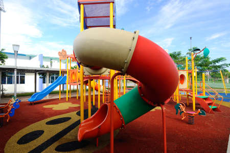 children play area: Children outdoor playground located at the housing area in Selangor , Malaysia. It was design with few different themes to give different experience to the kids.