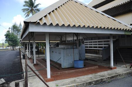 pahang: Ablution of Tanjung Api Mosque at Kuantan, Pahang, Malaysia. This is modular mosqsue build under ASPA programme.