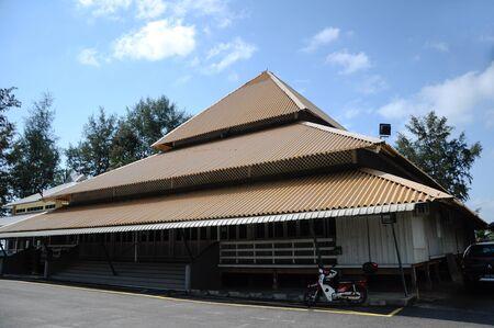 pahang: Tanjung Api Mosque at Kuantan, Pahang, Malaysia. This is modular mosqsue build under ASPA programme. Stock Photo