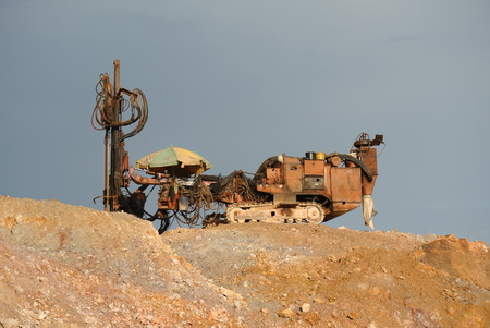 probe: Old mackintosh probe machine at construction site used to do soil investigation work.