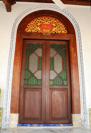 doa: Main door of Kampung Kling Mosque.  It is an old mosque in Malacca City, Malacca, Malaysia and originally build in 1748. It is one of the traditional mosue in Melaka which still retains its original design.
