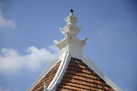 pinnacle: Pinnacle of Peringgit Mosque. The mosque was built in 1868 after the old Mosque was destroy. In year 2002 The Malacca Government took the responsibilities to execute the conservation works to restore the original look of the Peringgit Mosque. Stock Photo
