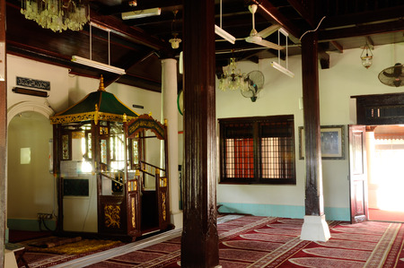 doa: Interior of Peringgit Mosque was built in 1868 after the old Mosque was destroy. In year 2002 The Malacca Government took the responsibilities to execute the conservation works to restore the original look of the Peringgit Mosque.