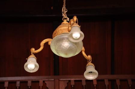 recite: Chandelier of Peringgit Mosque. The mosque was built in 1868 after the old Mosque was destroy. In year 2002 The Malacca Government took the responsibilities to execute the conservation works to restore the original look of the Peringgit Mosque. Editorial