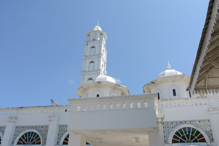 terengganu: Minaret of The Abidin Mosque in Kuala Terengganu, Malaysia. It was Terengganu old state royal mosque built by Sultan Zainal Abidin II between 1793 and 1808. The mosque, which is also known as the White Mosque or the Big Mosque.