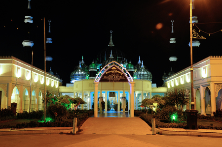 The Crystal Mosque or Masjid Kristal is a mosque in Kuala Terengganu, Terengganu, Malaysia. A grand structure made of steel and the finishes from glass and crystal. The mosque is located at Islamic Heritage Park on the island of Wan Man. Editöryel