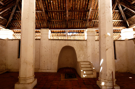 malay village: Interior of The Old Mosque of Pengkalan Kakap located in Merbok Kedah Malaysia. It was build around 1800 with traditional Malay architectural style and considered as oldest Mosque in Pengkalan Kalap Kedah Malaysia.