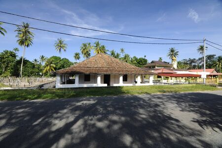 malay village: The Old Mosque of Pengkalan Kakap located in Merbok Kedah Malaysia. It was build around 1800 with traditional Malay architectural style and considered as oldest Mosque in Pengkalan Kalap Kedah Malaysia. Editorial