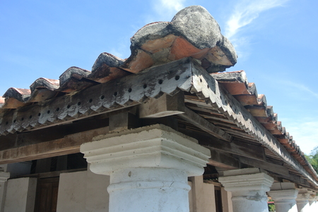 malay village: Roof structure detail of The Old Mosque of Pengkalan Kakap located in Merbok Kedah Malaysia. It was build around 1800 with traditional Malay architectural style and considered as oldest Mosque in Pengkalan Kalap Kedah Malaysia.