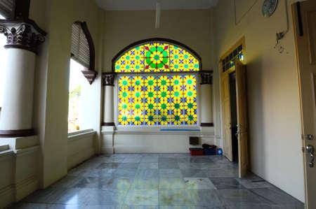 kelantan: Interior of The Muhammadi Mosque The Kelantan State Mosque in Kelantan Malaysia